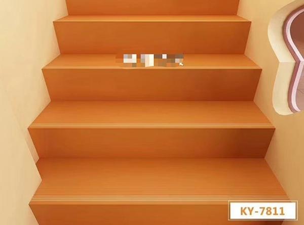 桔色楼梯踏步效果展示