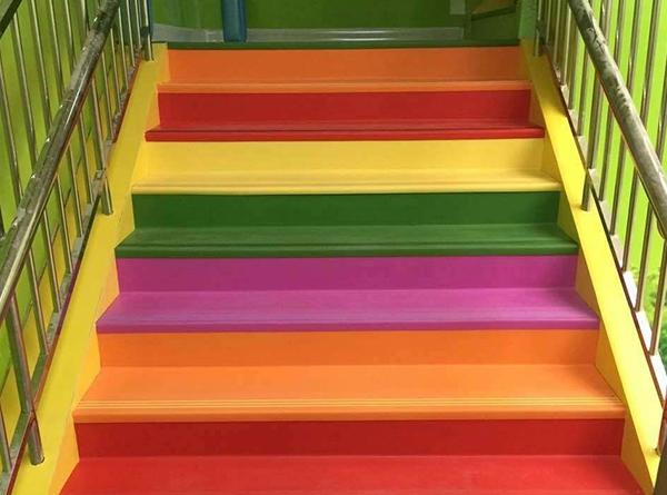 双拼彩色整体楼梯踏步效果展示