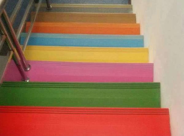 彩色楼梯踏步效果展示